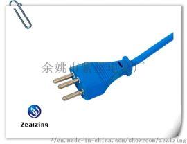瑞士电源线SEV认证纯铜插头品字尾裸尾电脑连接线