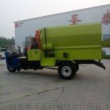 新疆养殖场饲料喂料车  全自动牛场撒料车
