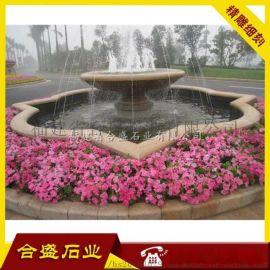 水钵石雕厂供应 石雕喷泉雕塑 砂岩喷泉