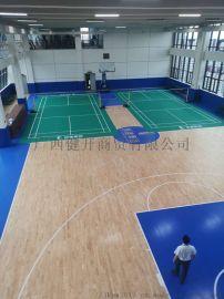 广西北海室内篮球场实木地板铺设
