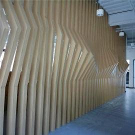 仿木纹格栅型材铝方管特点 造型背景墙隔断型材铝格栅