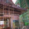 大亚湾造型门头仿古斗拱 庭院中式屋檐铝合金斗拱