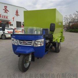 厂家定做牛羊喂料机 自走式三轮撒料车