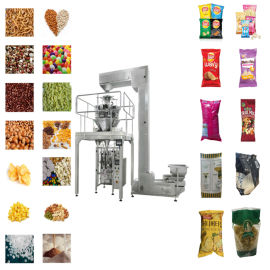 电子秤立式包装机 全自动虾条/薯片包装机械
