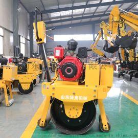 手扶式液压小型压路机 捷克700震动小压路机质量