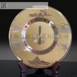 湖北退役士兵留念礼品 干部转业纪念 纯铜退伍奖牌