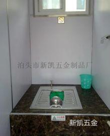 活动型公厕用打包不锈钢蹲便器 公共集成式不锈钢马桶