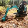 挖坑機械 固定式抓鋼機 六九重工lj 80型挖溝小