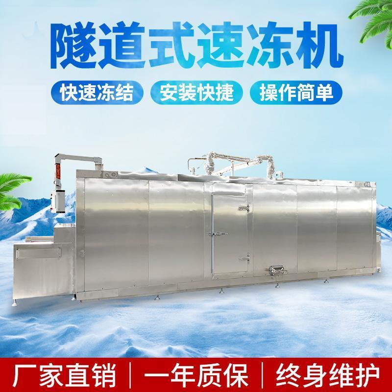 汤圆短时速冻机 水产品网带式连续速冻设备