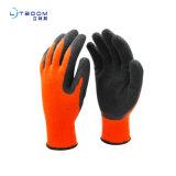 劳保手套乳胶起皱发泡半浸 耐磨舒适性手套