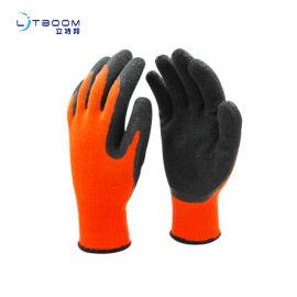 劳保手套乳膠起皱发泡半浸 耐磨舒适性手套