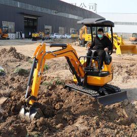 液压小型挖掘机 微型园林松土履带挖掘机