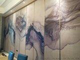 貼畫餐廳活動屏風門摺疊隔音隔斷牆廠家
