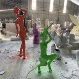 广场音乐抽象人物雕塑 定做玻璃钢彩色人物雕塑
