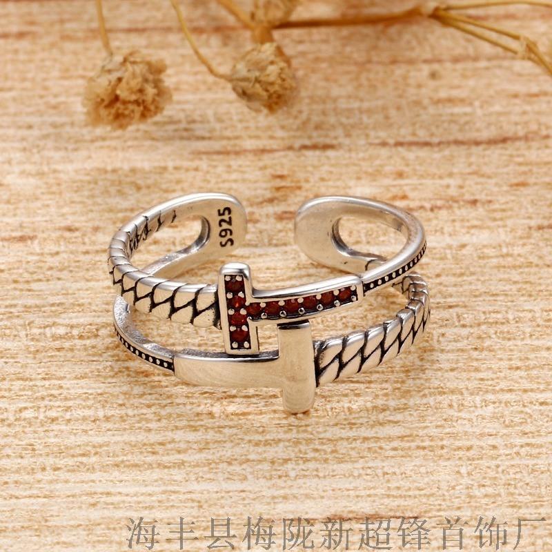 925纯银复古泰银戒指女