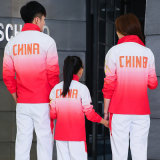 中国队套装男士运动休闲服女夜跑健身服童装运动服