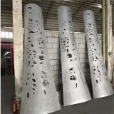 椭圆造型铝单板包柱 蘑菇形包柱铝单板供应厂家