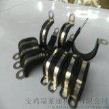 廊坊市R型包胶条不锈钢金属紧固夹 Φ8波纹管管夹