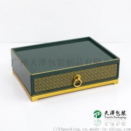 ABS低温树脂抽屉盒钢琴烤漆礼盒抽屉式首饰盒