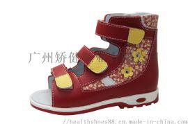 广州厂家矫正凉鞋,外贸功能小童鞋,高帮矫正鞋