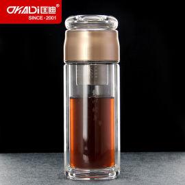 匡迪366号水晶泡茶杯 双层高硼硅玻璃水杯