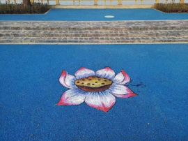 彩色透水混凝土地坪可以增加舒适性与安全性彩色地坪