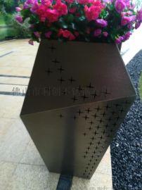 喇叭形不锈钢花箱佛山厂家定制不锈钢落地花瓶