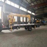 拉樓板拖拉機平板吊車 10噸拖拉機隨車吊