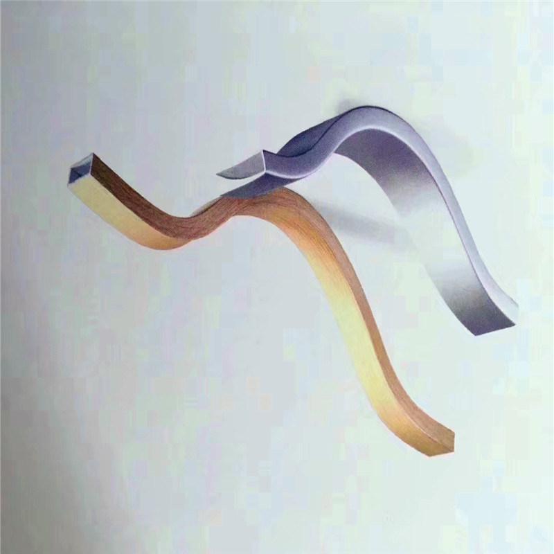 木紋弧形鋁方通 氟碳波浪形鋁方通 粉末造型鋁方通