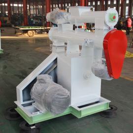 小型成套饲料粉碎搅拌制粒机组 1吨环模饲料颗粒机