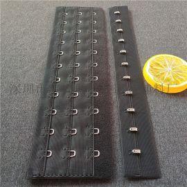 厂家直销3排14扣塑身衣排扣双针不锈钢束腰带扣