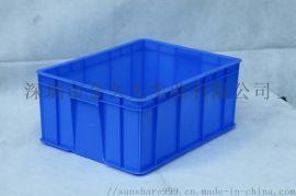 东莞储物箱 物流周转箱 带盖一体周转箱斜插式塑料箱