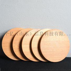 竹制功夫茶道茶杯垫 简约实木碗碟垫隔热餐垫