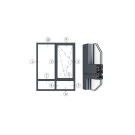 广东兴发铝材创高OC65系列隔热节能内开内倒窗