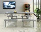 鑫广意食堂不锈钢餐桌椅子防污能力强易于清洁打理