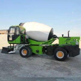 混凝土上料搅拌运输车 1.5方自动上料搅拌车
