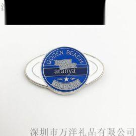 厂家定做 金属高尔夫球帽夹马克 电镀浮雕中国龙图案