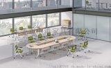 東莞摺疊培訓桌翻轉移動帶輪子會議桌椅組合可定製