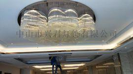 宴会厅水晶灯 酒店水晶吸顶灯