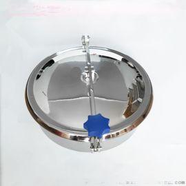 不锈钢方形人孔配件 圆形人孔盖放料口流体设备配件
