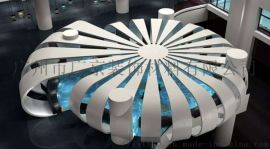 海南博物馆用造型铝单板弧形铝单板天花