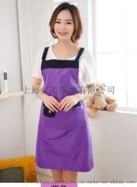 挂脖围裙定制 男女厨房围裙 各种材质工作服围裙