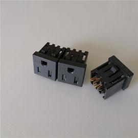 TR插座.美标防护门插座.C13防脱电源母座