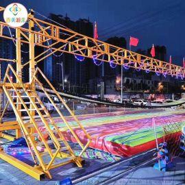 大型水上网红桥摇摆桥充气气垫厂家直销