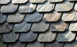 长期供应黑色瓦板石青石板屋顶装饰天然文化石