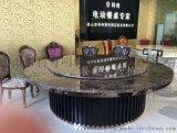 科奇隐形火锅餐桌隐藏电磁炉一体酒店电动大圆桌椅组合实木一人一炉桌