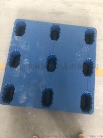 吹塑厂家直销 九脚吹塑托盘 蓝色加厚塑料胶托栈板