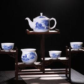 活动礼品手绘茶具套装景德镇陶瓷厂家