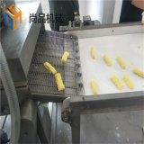 玉米布丁酥上浆机 全自动玉米布丁酥上浆上糠流水线