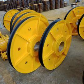 抓斗用滑轮组 架桥机用滑车滑轮 400滑轮直径